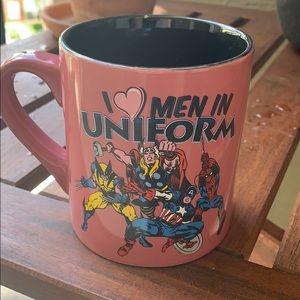 I ❤️ Men in Uniform Marvel Mug